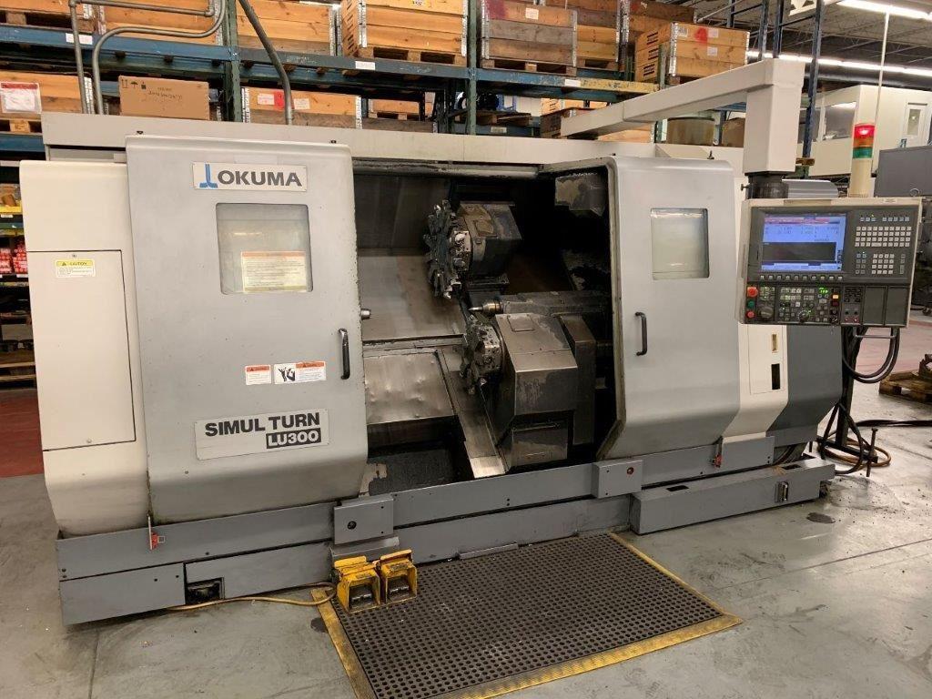 20005 - OKUMA LU300 4 AXIS CNC TURNING CENTER