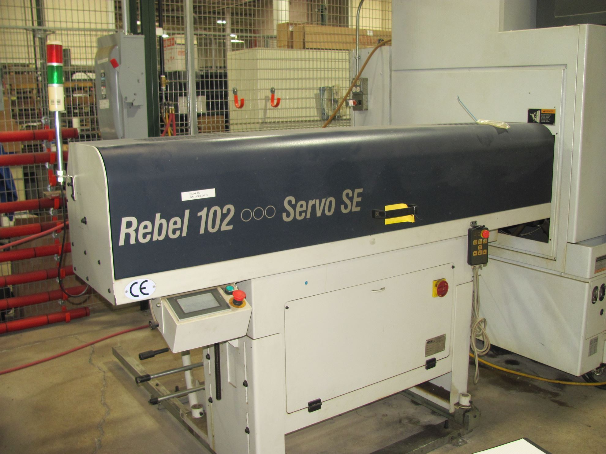 "20028 - 4"" EDGE TECHNOLOGIES REBEL 102 SERVO SE MAGAZINE TYPE BAR LOADING SYSTEM"