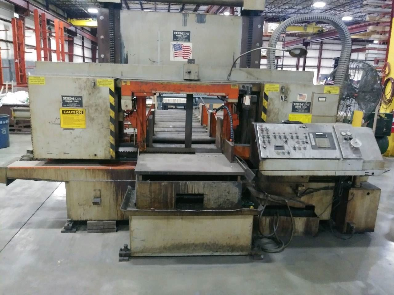 "20035 - 25"" x 30"" HEM #H160LA-DC DOUBLE COLUMN PROGRAMMABLE AUTOMATIC HORIZONTAL BAND SAW"