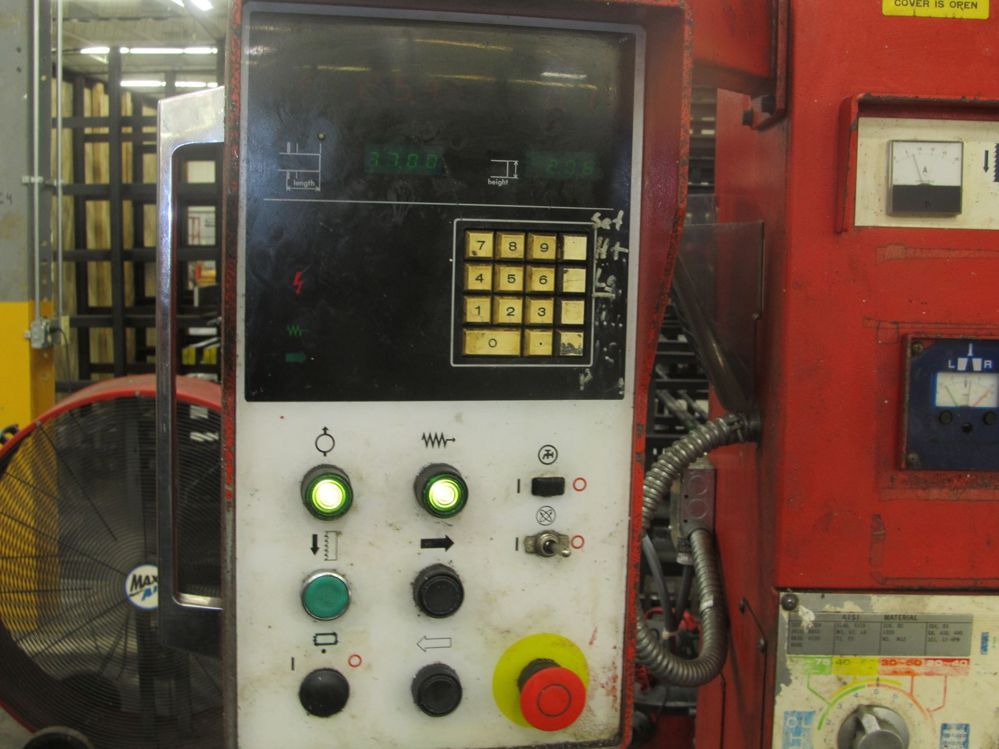 20048 - #VM-2500 AMADA VERTICAL BAND BLOCK/PLATE SAW  MODEL VM-2500